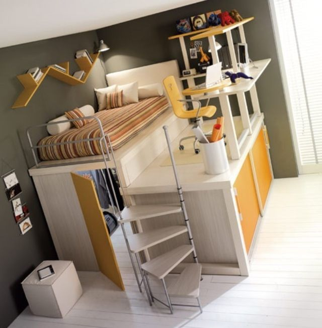 Crazy Loft Bed Loft Spaces Space Saving Furniture Awesome Bedrooms