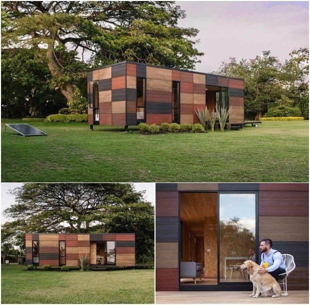casas modulares VIMOB fachada madera Modular eco home Pinterest - fachada madera
