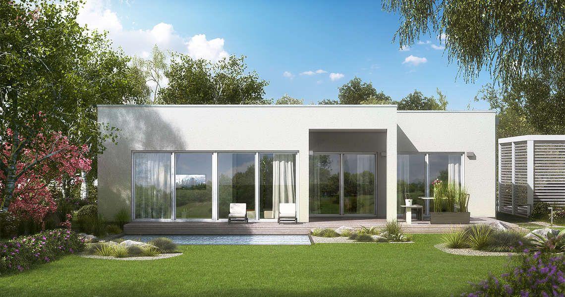 Flachdachbungalow Modern häuser bungalow bauhaus and haus
