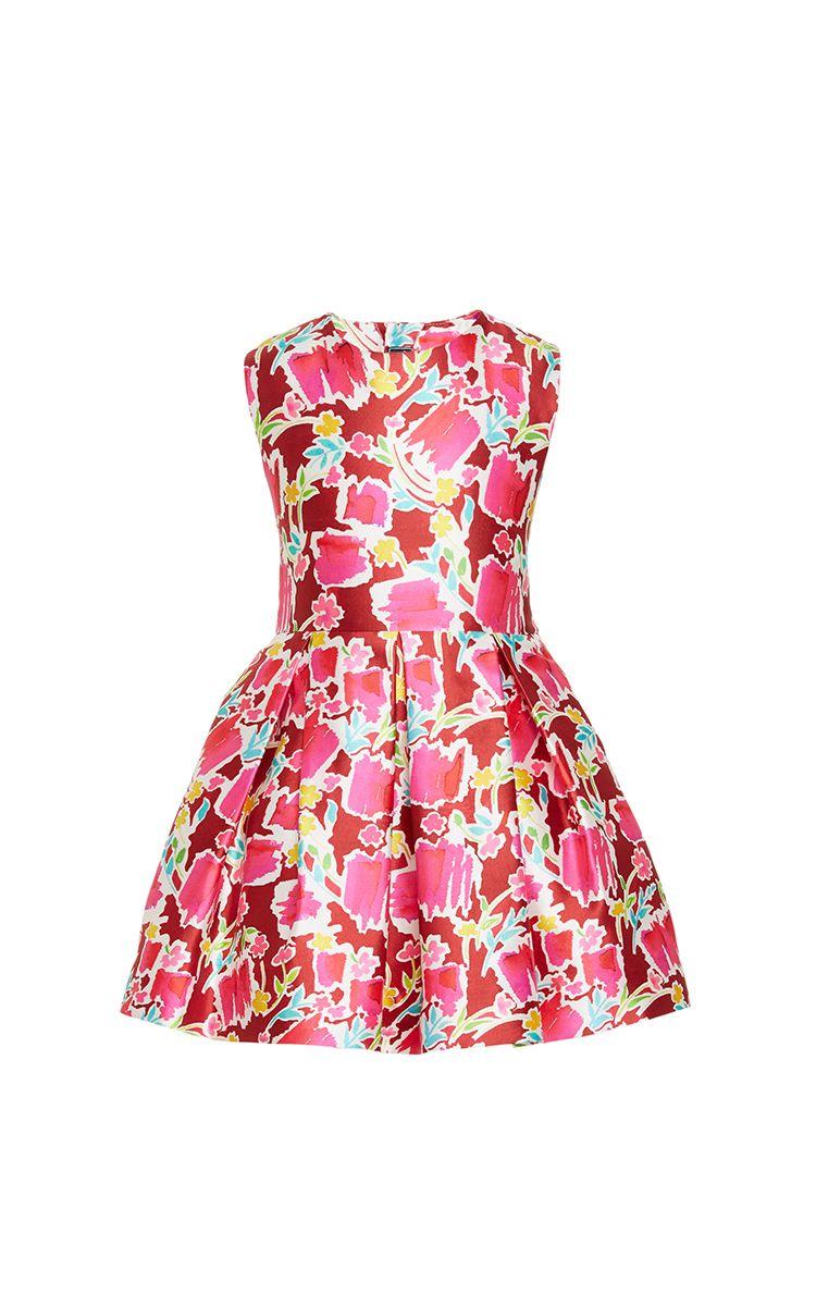 OSCAR DE LA RENTA Girls Blossom Sketch Mikado Party Dress   Fashion ...