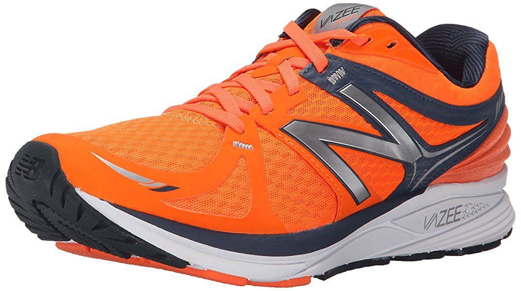 New Balance Men's Vazee Prism Running Shoe, Orange/Grey, 7.5 D US ...