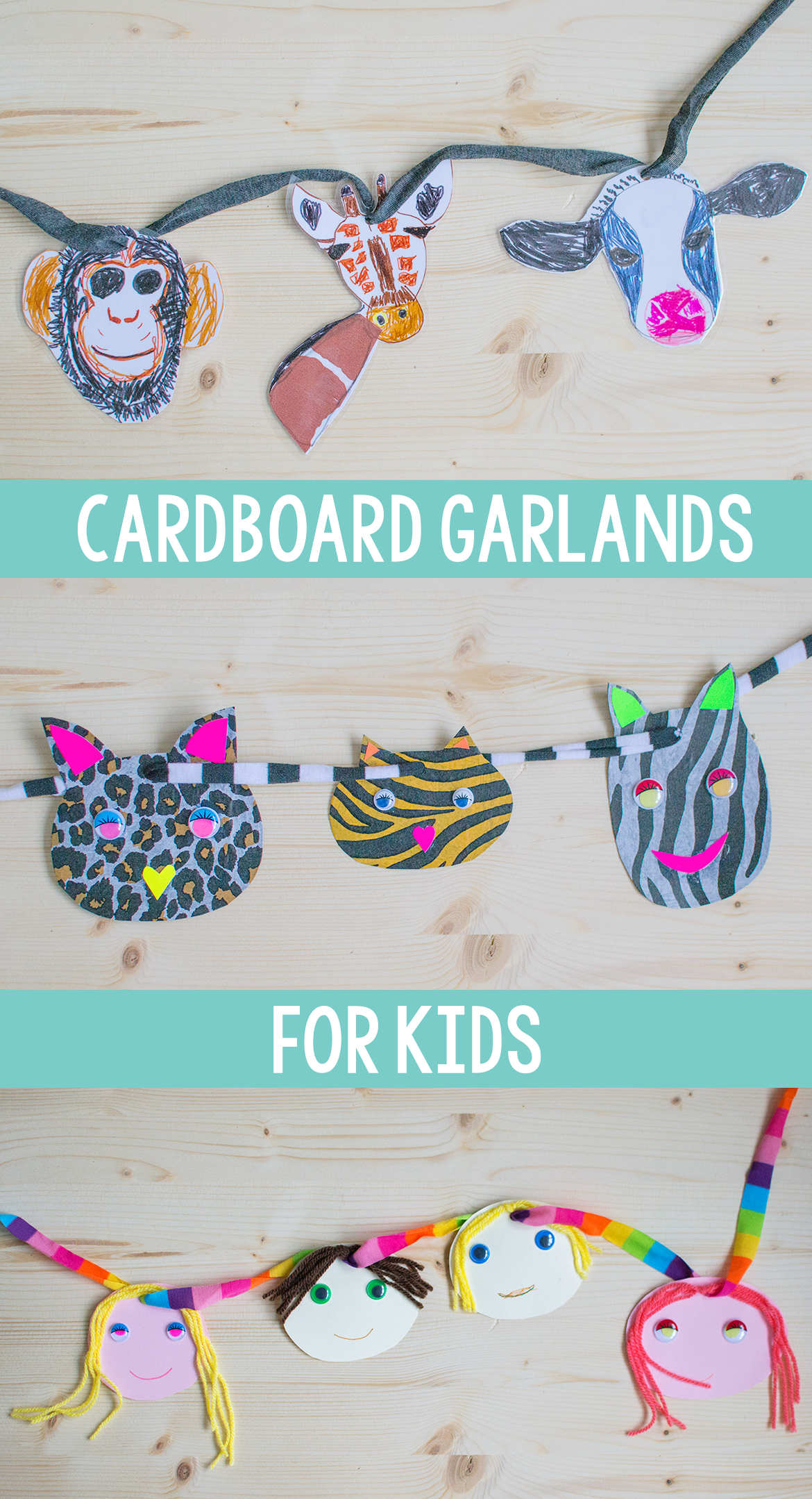 3 Ways To Make Cardboard Garlands For Kids | Garlands, Crafts and ...