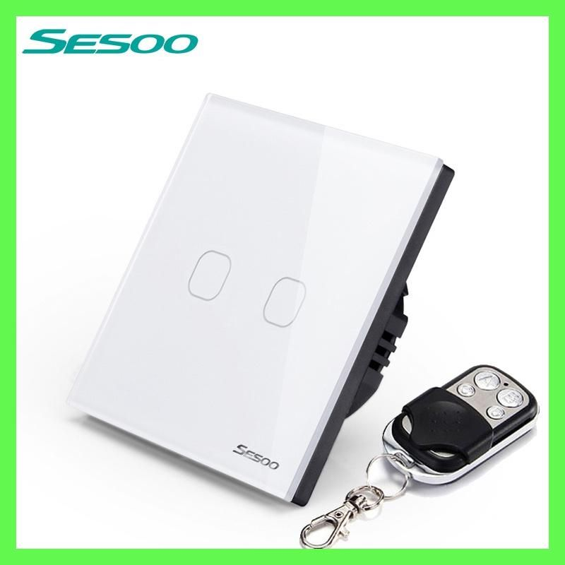 SESOO Remote Control Switch 2 Gang 1 Way SY2 02 Smart Wall Touch Switch+