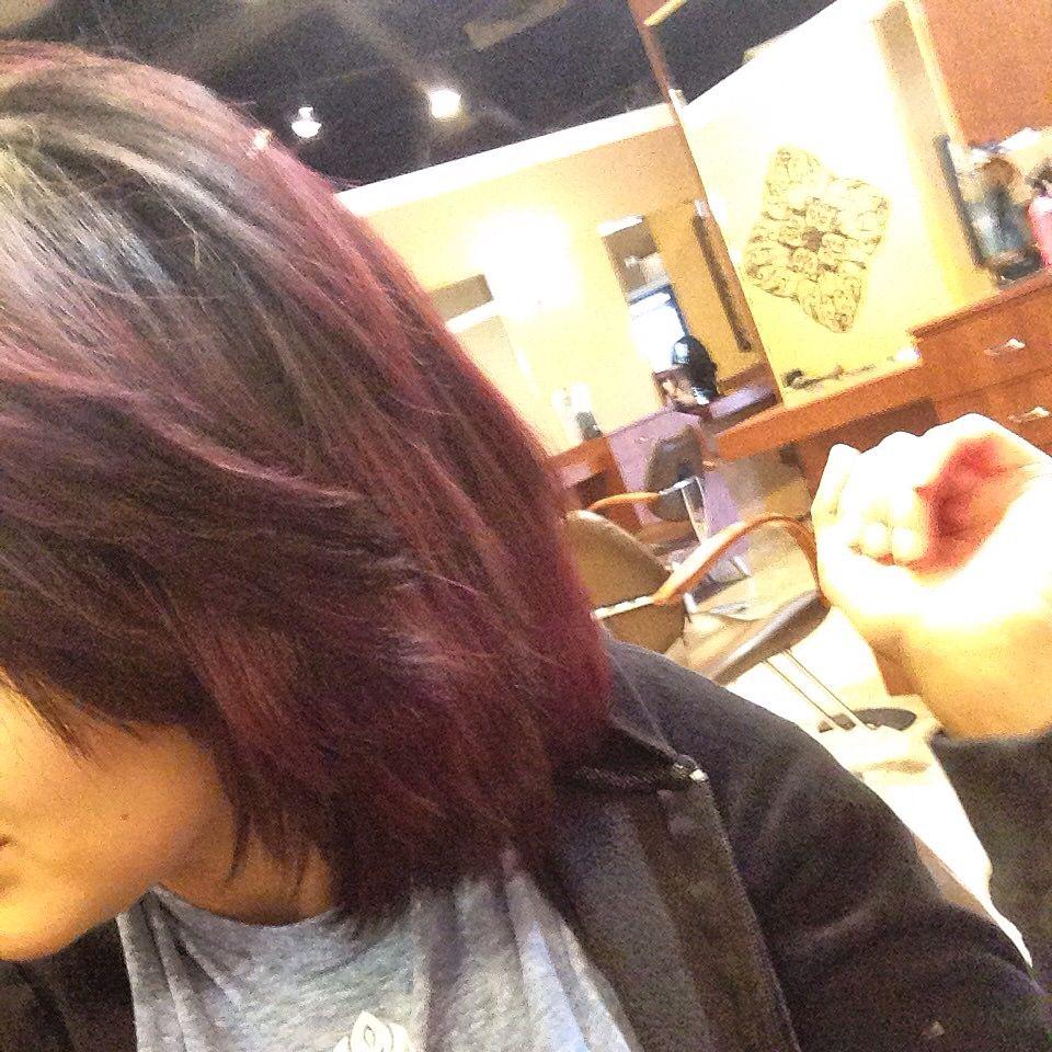 Ombre darkhair redhair shorthair goldwell fashion u hair