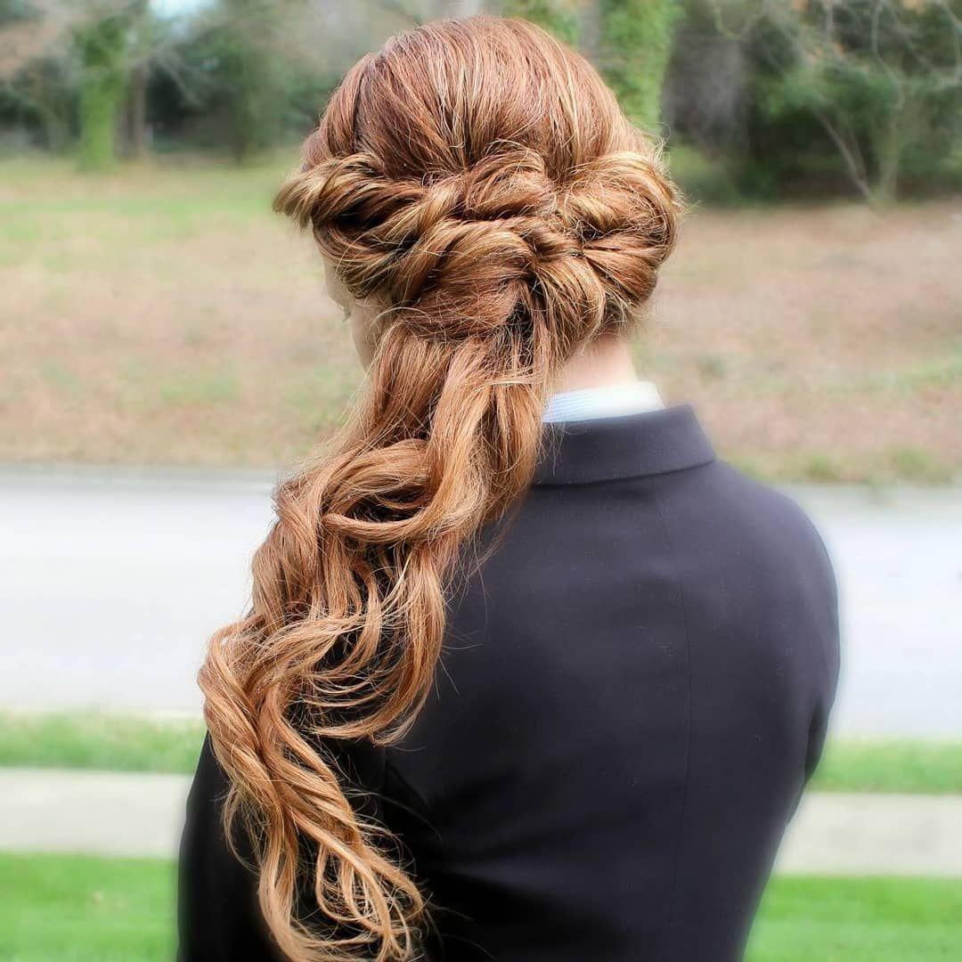 red hair wedding hairstyle | bridesmaid hair | raleigh nc