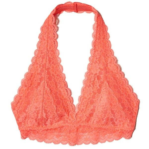 f1c018701b Hollister Lace Halter Bralette ( 13) ❤ liked on Polyvore featuring  intimates