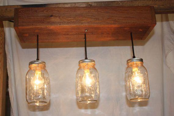Three light cedar mason jar chandelier by thehoneydew on etsy three light cedar mason jar chandelier by thehoneydew on etsy 10500 aloadofball Choice Image