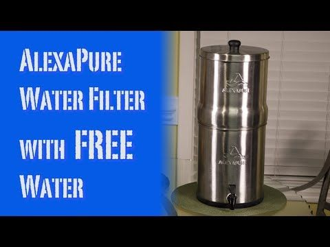 Alexapure Pro Gravity Water Filter System With Free Water Review Youtube Water Filter Water Filters System Filters