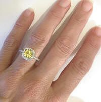 yellow sapphire and diamond halo ring