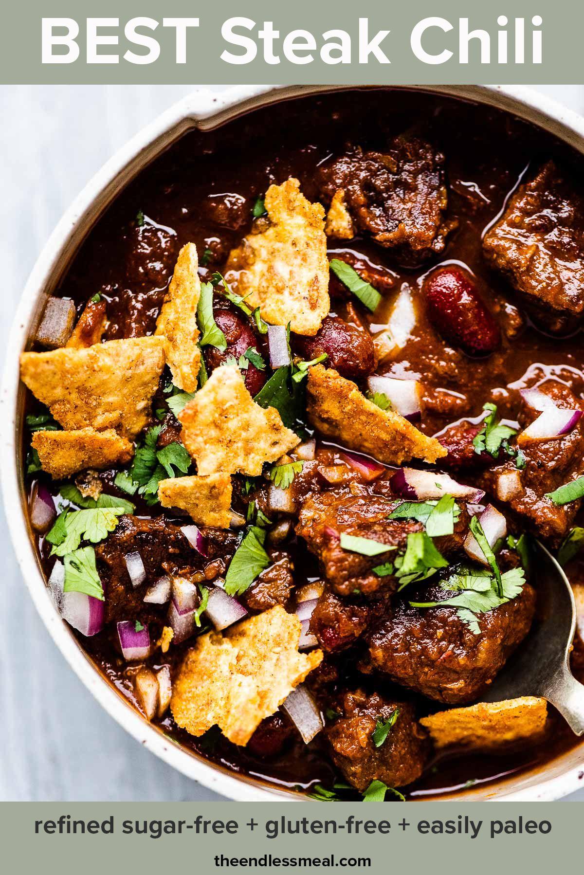 Best Steak Chili Recipe Recipe Steak Chili Chili Recipes Steak Chili Recipe