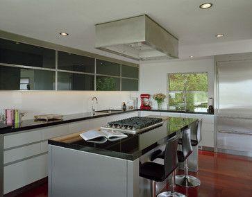 Custom Hood In Soffit Above Window Kitchen Modern Kitchen Seattle Garret Cord Werne Modern Kitchen Island Minimalist Kitchen Cabinets Modern Kitchen