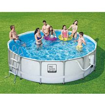 Walmart ProSeries 14 X 42 Metal Frame Swimming Pool With Deluxe Kit