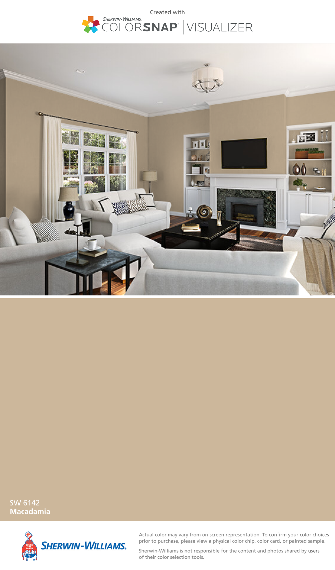 I found this color with colorsnap visualizer for iphone by sherwin williams macadamia sw 6142
