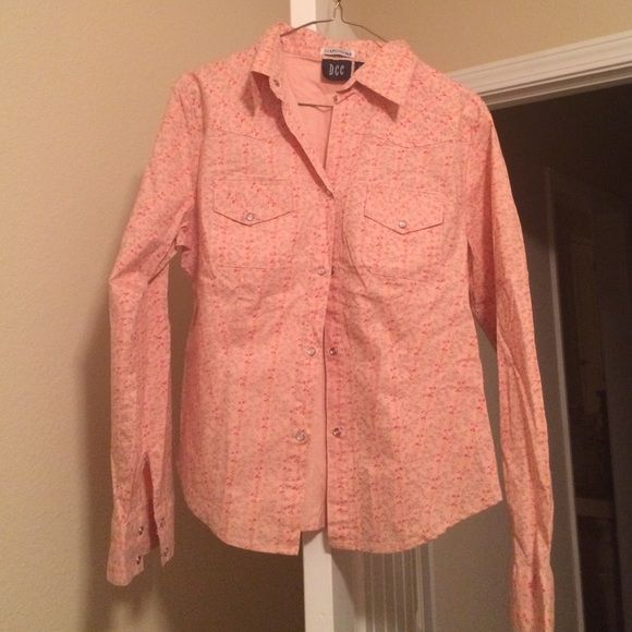 Patterned Floral Pearl Snap shirt Floral print, long sleeve, Pearl snap collared shirt DCC Tops Button Down Shirts