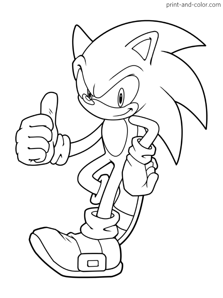 Sonic The Hedgehog Coloring Pages Print And Color Com Hedgehog Colors Hedgehog Drawing Coloring Pages