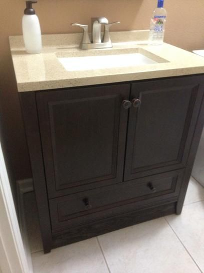 Glacier Bay Delridge 30 In W X 19 In D Bathroom Vanity In