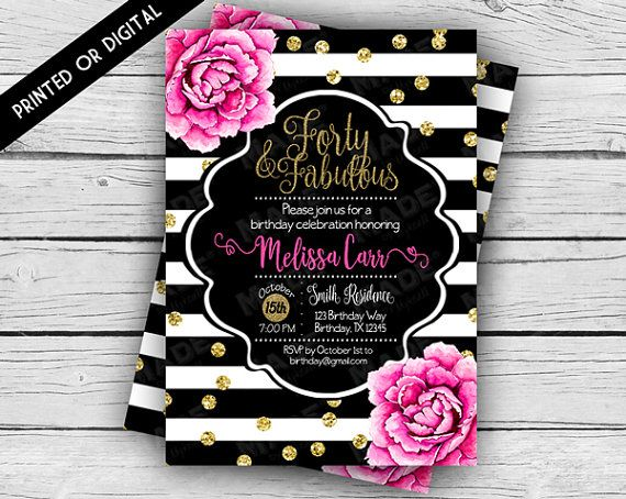 kate spade wedding invitations kate spade inspired 40th birthday invitation forty 5291