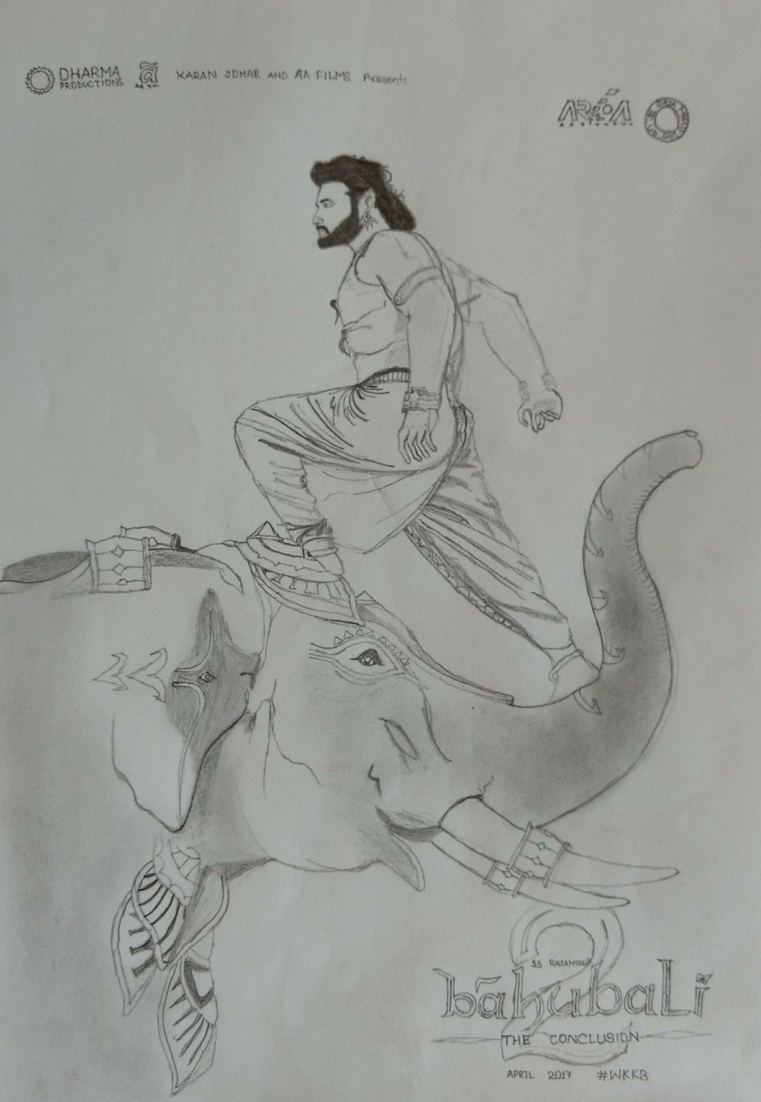 "Last I had sketched this one The movie , ""Bahubali 2"