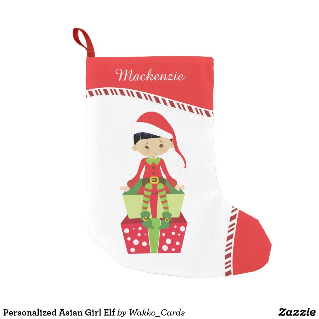 Asian girl personalized stocking