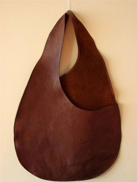 BONNIE CASHIN for COACH Body Bag Sac Brown Leather RARE Museum Archive Piece VTG #BONNIECASHINCOACH #FlatHoboSac