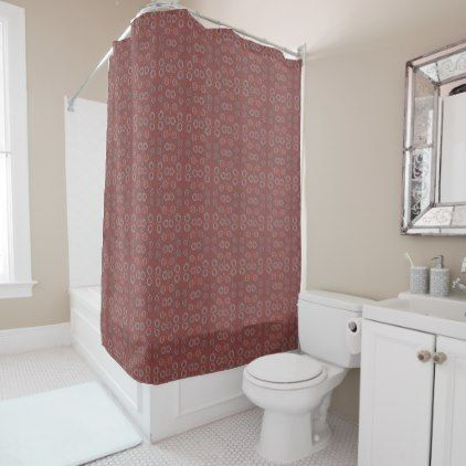 Find The Rabbit Rustic Pattern Gray Terracotta Shower Curtain