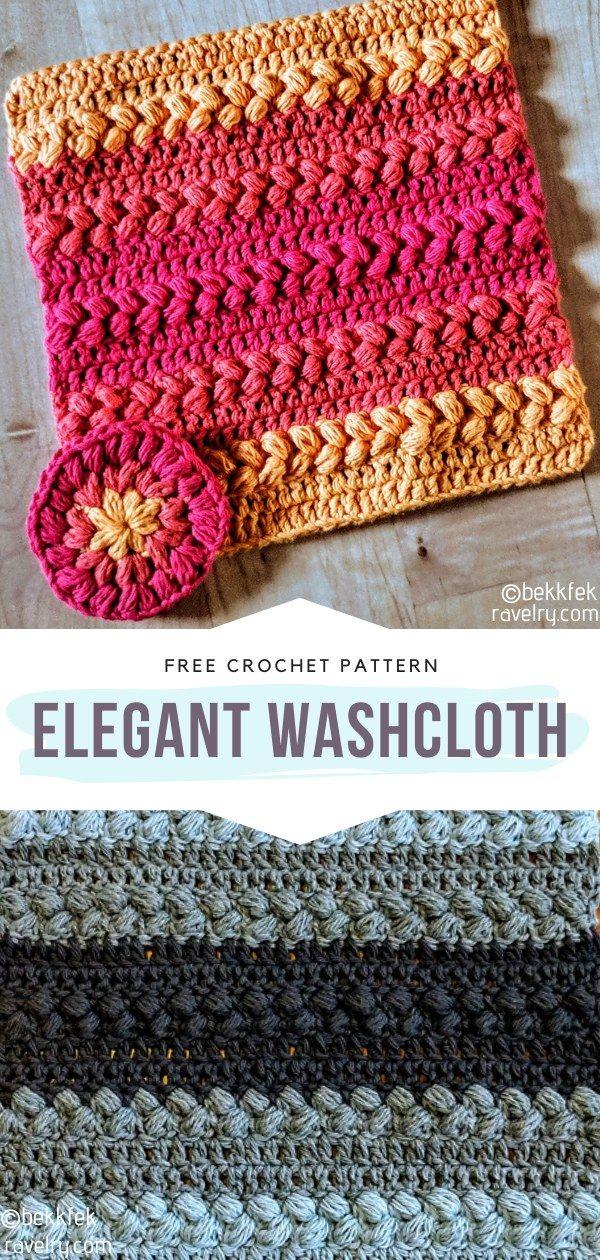 How to Crochet Elegant Washcloth