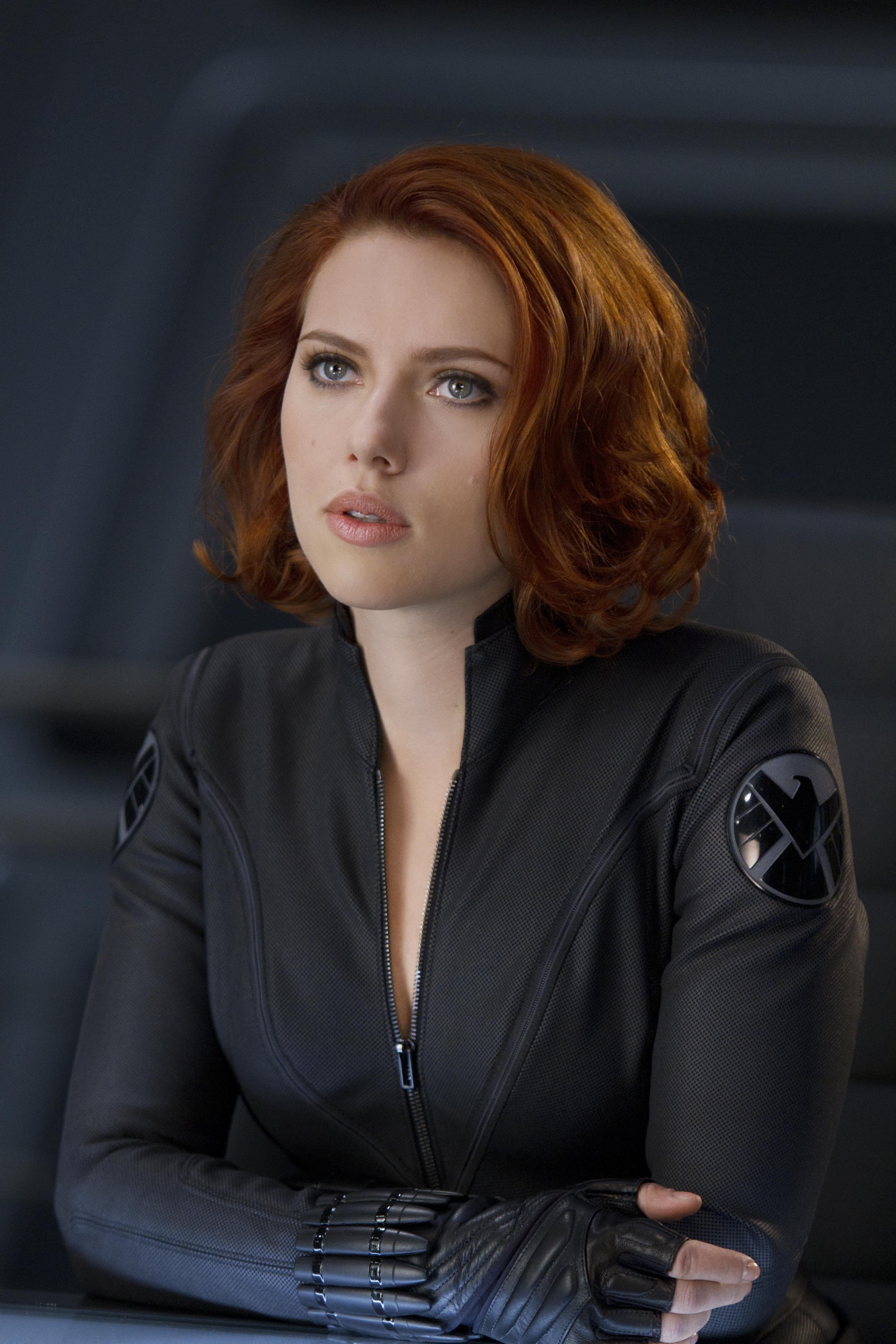 women's black zipup jacket women actress redhead Scarlett Johansson S H I E L D  Black Widow portrait display 5K wallpaper hdwallpaper desktop is part of Black widow avengers -