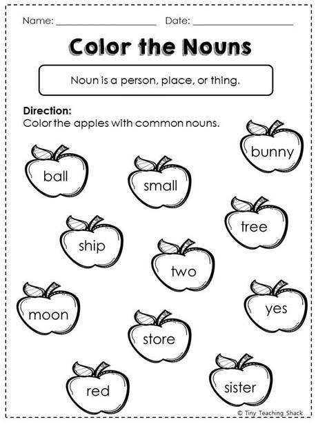 Image result for nouns worksheets for grade 1 | grammar | Pinterest ...