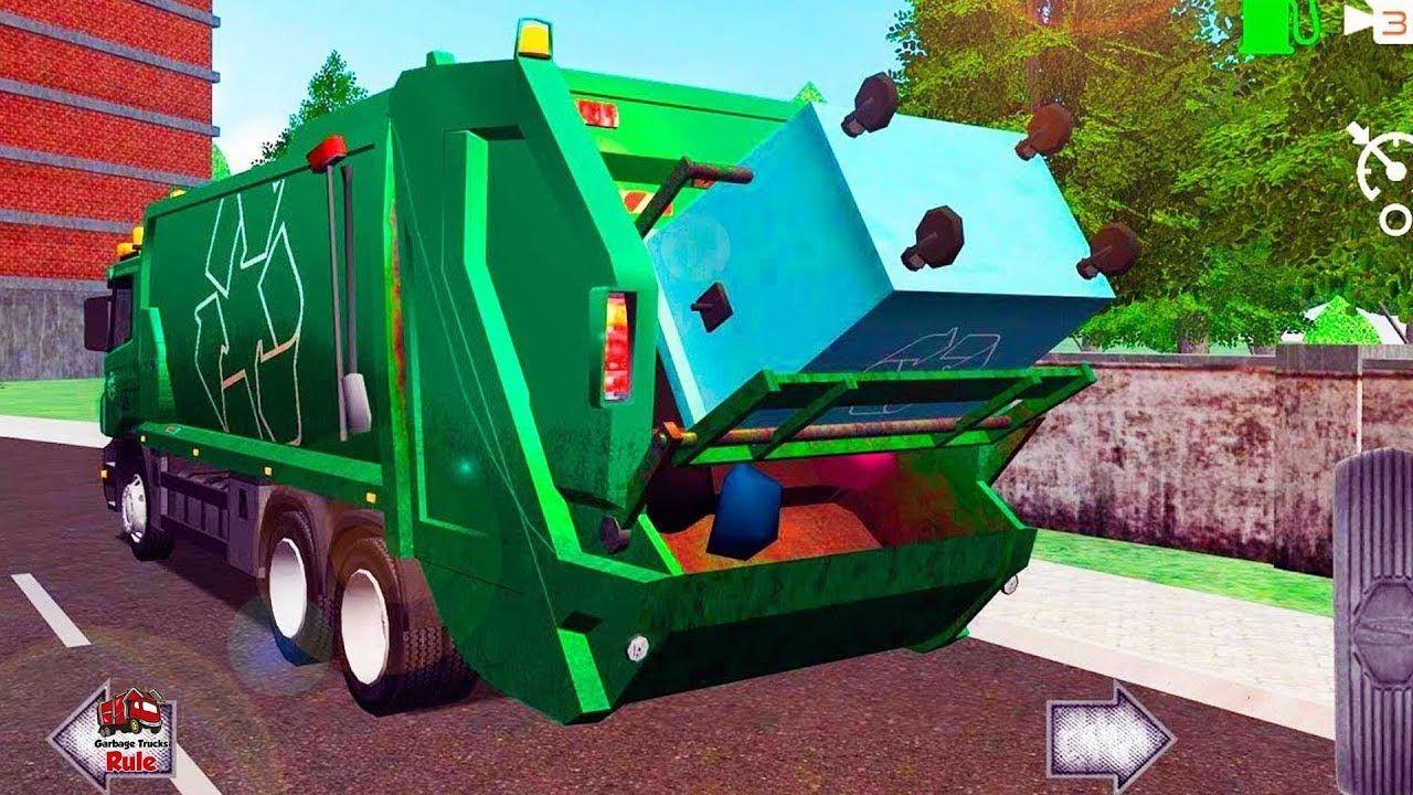 Garbage Truck Videos For Children L Trash Truck Dumpster Pick Up