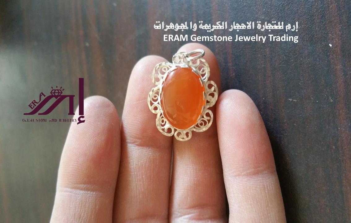 قلادة نسائي عقيق يمني مشمشي طبيعي 100 Onyx Agate Gemstone Jewelry Gemstones Gemstone Rings