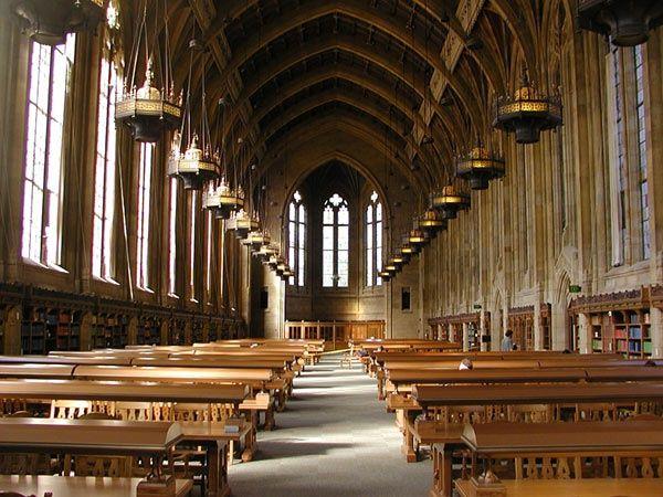 Suzzallo Library's Graduate Reading Room at the University of Washington, Seattle, WA