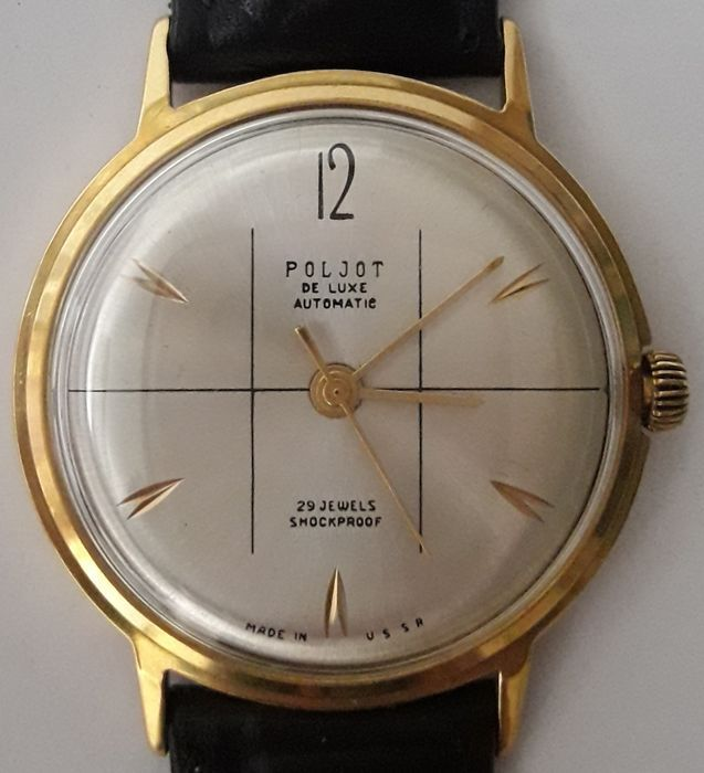 Poljot International – De Luxe / Automatic / 29 Jewels. / Cal. 2415. – Homme – 1970-1979
