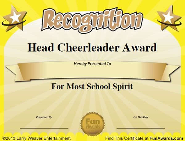 Teacher leadership award pinteres for Silly certificates awards templates