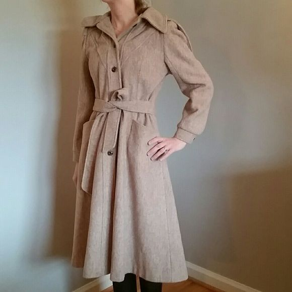 Vintage wool coat xs
