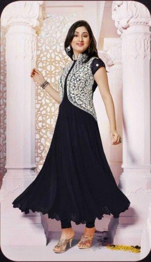 5d4321884af Koti style black color designer semi stitched...