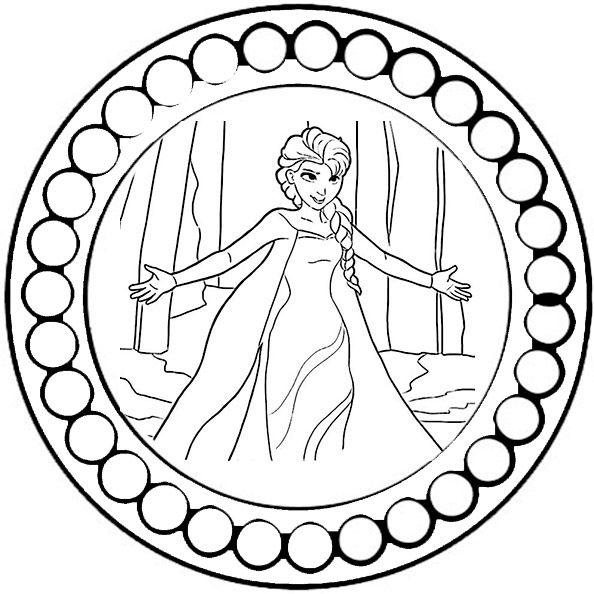 mandalas zum ausdrucken disney eiskonigin | 1 | Pinterest | Mandalas ...