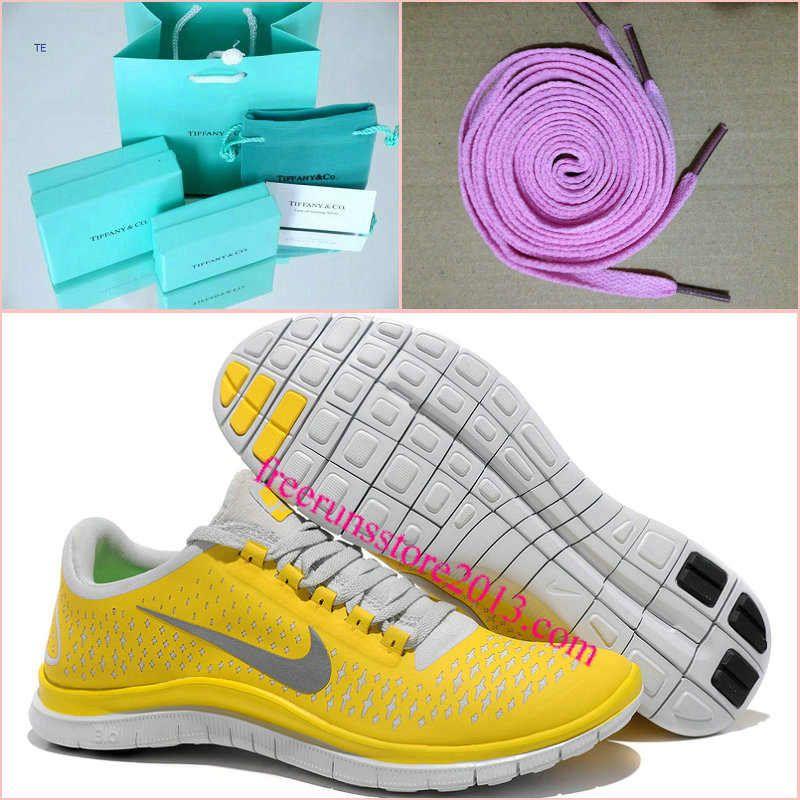 e14eeade58ae Mens Nike Free 3.0 V4 Chrome Yellow Reflect Silver Platinum Shoes ...