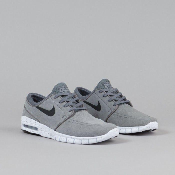 Nike SB Stefan Janoski Max L Cool Grey / Black - White