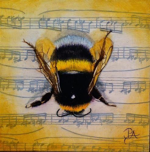 """Insect Music II: Flight of the Bumblebee"" - Original Fine Art for Sale - © Patti Adams"