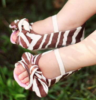 """I need to get these for my granddaughters!!  Peep toes in Zebra print?  I'll have to teach them the phrase, """"to die for"""" as well!"""