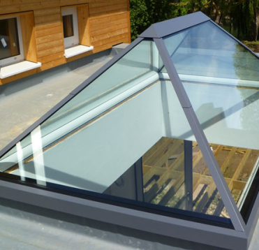 Flush Glazed Skylights - Flat Roof Lights - Pyramid ...