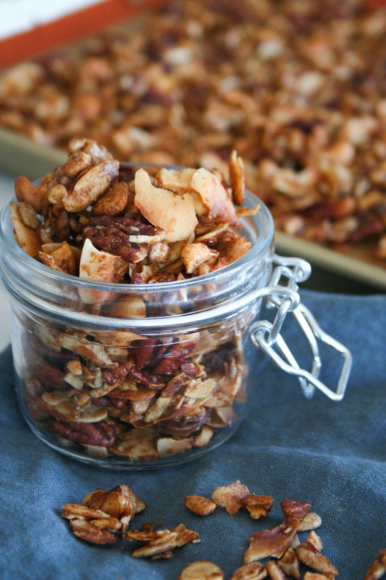 Grain free paleo granola paleo granola healthy snacks