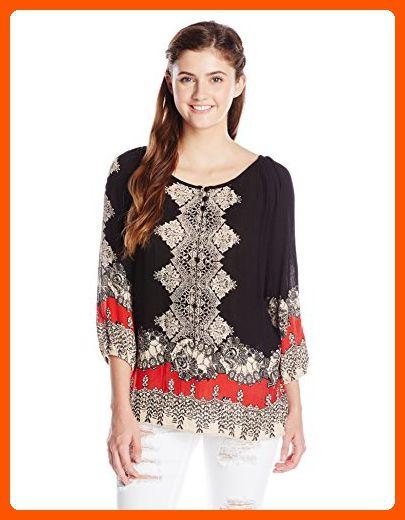 aaac4570919fe Angie Junior s Printed Raglan Sleeve Top