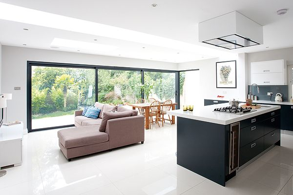 Kitchen Family Room creating family space with a side and loft extension | assignment