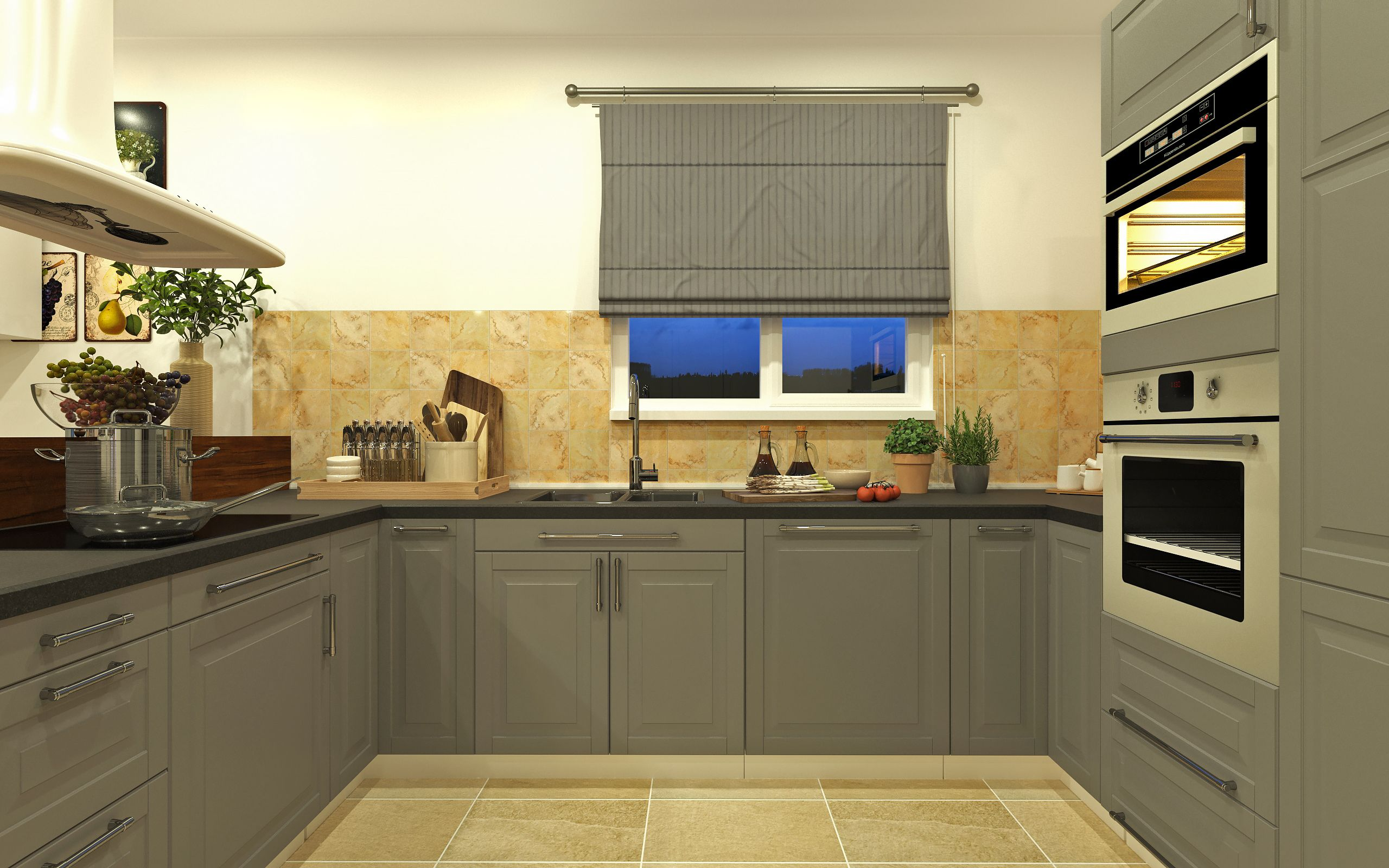 Kitchen Design, 3ds Max, Corona Renderer, IKEA