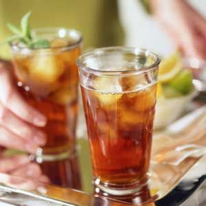 Spiked Iced Tea made with Firefly Skinny Tea Flavored Vodka. This low-calorie beverage is a big hit with the cocktail crowd!
