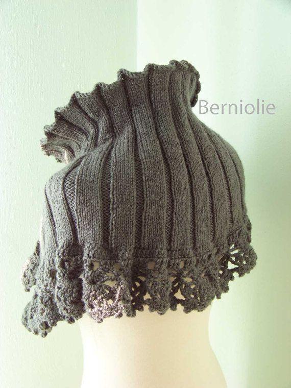 STELLA, Knit & crochet capelet pattern, pdf | Purses, Bags ...