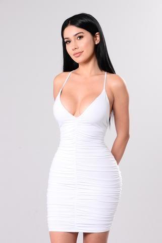 Simple Sweetness Dress - White