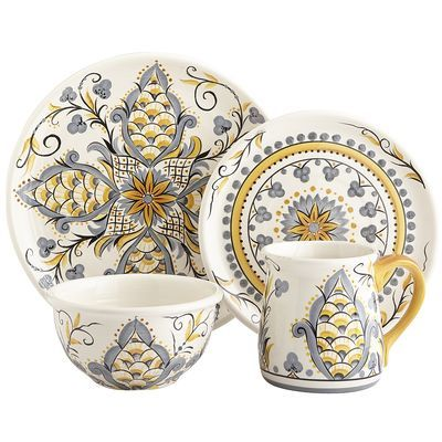 Karima Dinnerware - picked up a couple of the mugs from this set from Pier 1  sc 1 st  Pinterest & Karima Dinnerware - picked up a couple of the mugs from this set ...