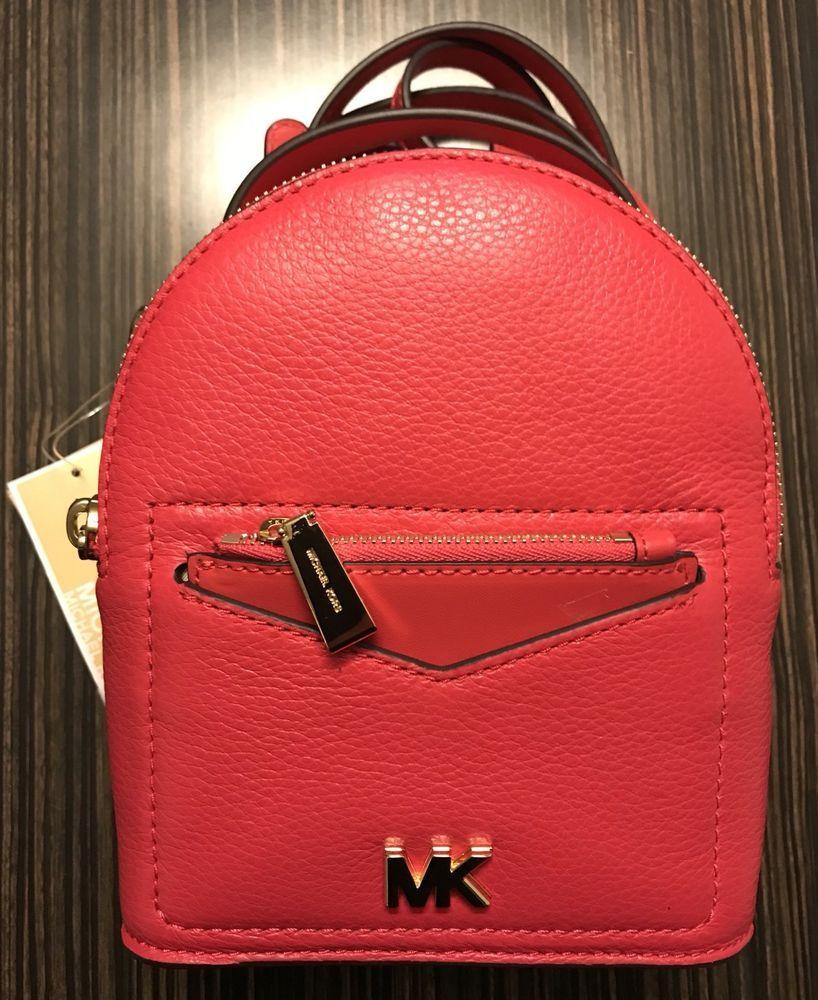 NWT Michael Kors Jessa Mini Convertible Backpack ~ Deep Pink ... 4b1a425e631f1